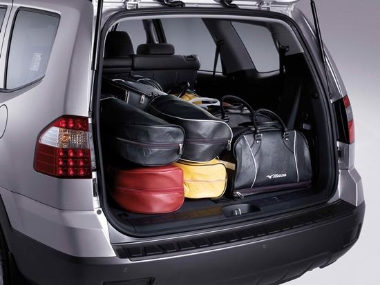 시승차와 같은 종류의 기아차 SUV 7인승 모하비 KV300의 대용량 트렁크 (사진 = 기아차)