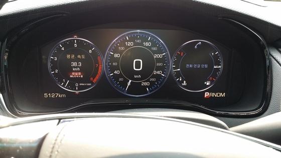 38,3km/h의 평균 속도로 339km 도심 주행 테스트에서 표시된 실제 평균연비 10,4km/L (사진 = 강은태 기자)