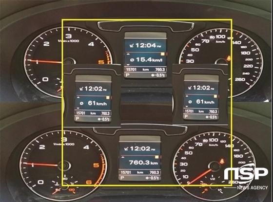 총 760.3km, 평균속도 61km/h, 12시간 23분 시승결과, 아우디 Q3 35TDI 콰트로의 실제 복합 연비는 15.4km/ℓ 기록 (사진 = 강은태 기자)