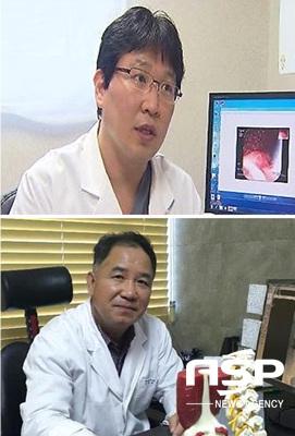 세브란스 위앤장 연합의원 내과과장을 맡은 은명 원장(위쪽)과 병원장 김석만 외과원장.