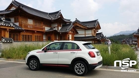 서울시 은평구 한옥마을의 피아트 500X 팝 스타 (사진 = 강은태 기자)