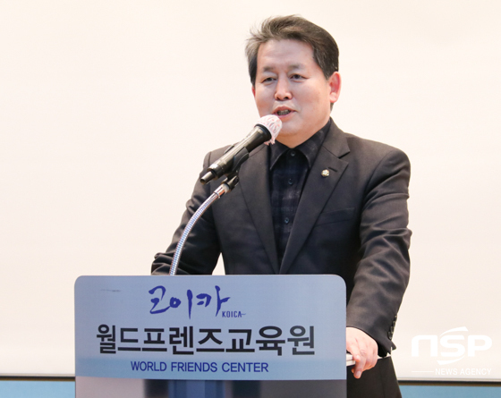 김경협 국회의원이 인사말을 하는 모습. (사진 = 조현철 기자)