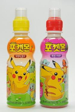 롯데칠성음료 포켓몬 음료 2종. (사진 = 롯데칠성음료 제공)