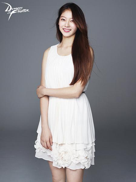 던전앤파이터의 겨울 업데이트 홍보모델 공승연.