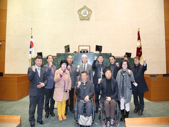 경기 성남시의회(의장 김유석)가 주최한 성남시 장애인단체 간담회가 지난 10일 시의회 의장실에서 개최했다. (사진 = 성남시의회 제공)