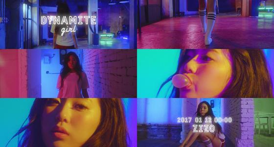 (사진 = 지조 신곡 다이너마이트 소녀 뮤비 티저 캡쳐)