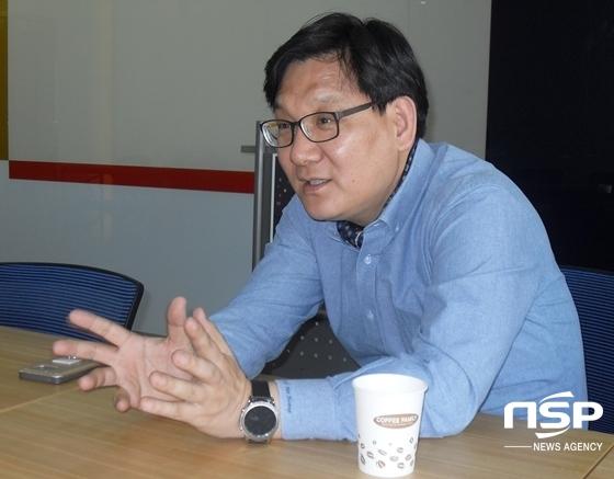 박희광 센터장이 1인 창조기업에 대해 설명하고 있다. (사진 = 김덕엽 기자)