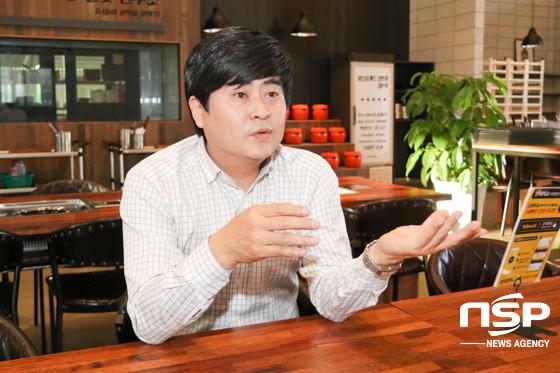 이혜주 외식중학교 본사 대표 및 음식점병원 원장이 성공전략 노하우를 설명하고 있다. (사진 = 조현철 기자)