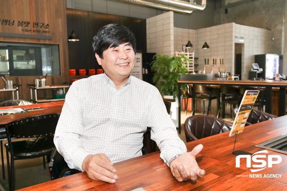 이혜주 외식중학교 본사 대표 및 음식점병원 원장이 자신의 꿈에 대해 말하고 있다. (사진 = 조현철 기자)