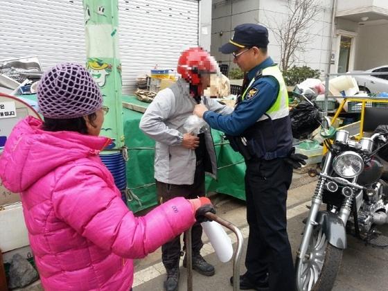 목포경찰서, 노인 교통사고 예방 활동 (사진 = 목포경찰서)