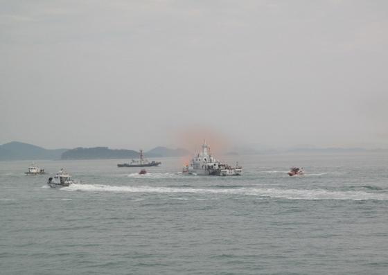 목포해경, 해상훈련 (사진 = 목포해경)