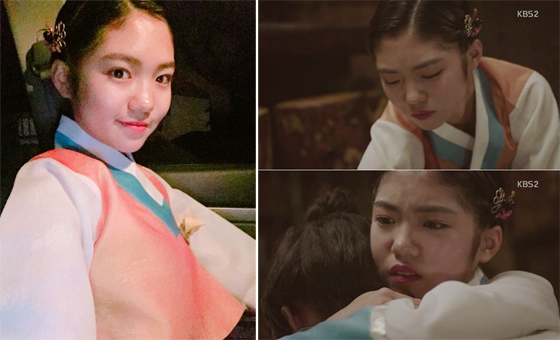 (사진 = 박서연 인스타그램, KBS2 드라마 7일의 왕비 캡쳐)