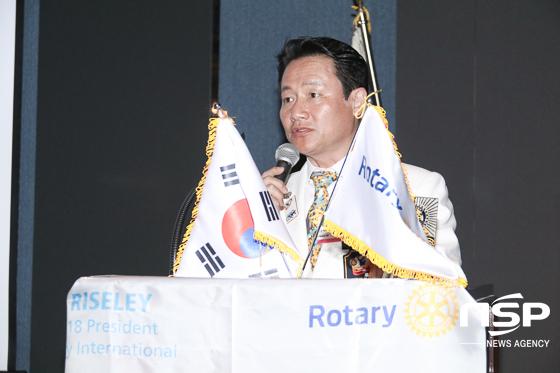 홍석정 취임회장이 취임사를 하는 모습. (사진 = 조현철 기자)