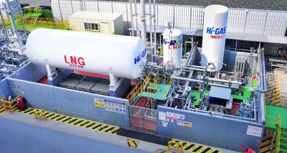 현대중공업이 울산 본사에 구축한 LNG선 종합 실증설비