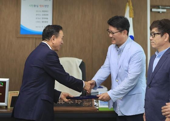 ▲천안영화제 추진위원회 위촉식 모습