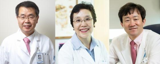 분당서울대병원의 장학철(왼쪽)·김나영(가운데)·변석수 교수. (사진 = 분당서울대병원)