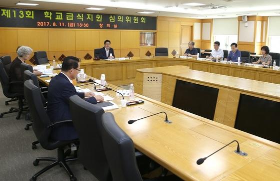 부천시 학교급식지원 심의위원회 진행모습 (사진 = 부천시)