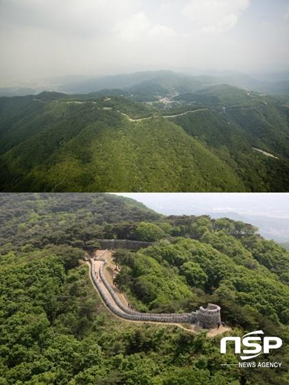 남한산성 전경(위)과 연주봉옹성. (사진 = 남한산성 세계유산센터)