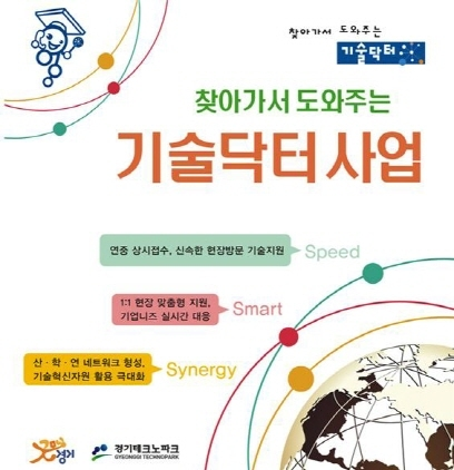 경기테크노파크의 찾아가서 도와주는 기술닥터사업 홍보 포스터. (사진 = 경기테크노파크)