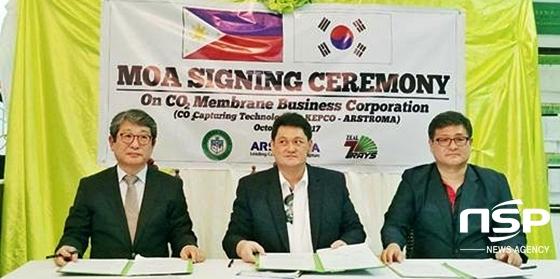 왼쪽부터 아스트로마 신기영 대표, Fernando Q. Lliamas 시장, Zeal7Rays 김성한 대표 (사진 = 아스트로마)