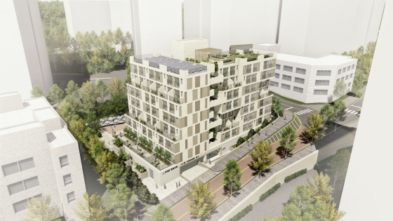 성남시가 직접 건설하는 60가구 규모 단대동 130번지 행복주택 조감도. (사진 = 성남시)