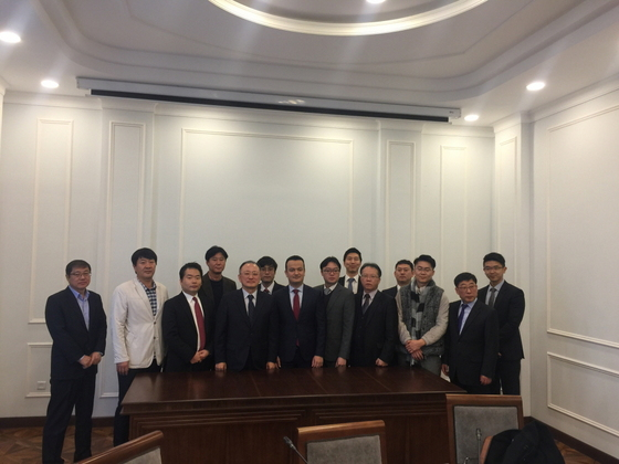 지난 달 28일 해외건설협회 중소기업 시장개척단이 우즈베키스탄 투자위원회를 방문했다.