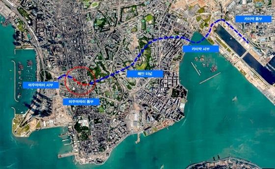 홍콩 도로프로젝트 위치도 (사진 = SK건설)
