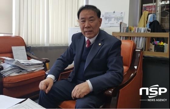 고양시의회 요진관련 행정사무조사특별위원회 위원장인 이규열 고양시의원 (사진 = 강은태 기자)