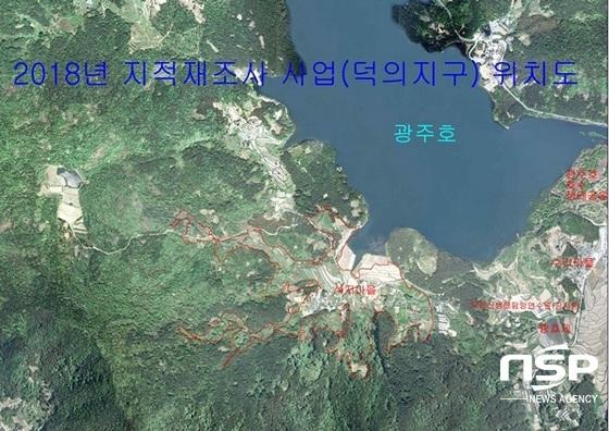 광주 북구 덕의지구 지적재조사 사업 위치도. (사진 = 광주 북구)