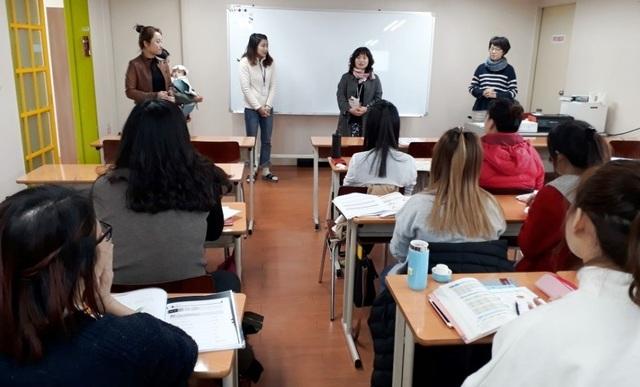 부천시 오정보건센터에서 다문화가족 대상 결핵예방 교육 진행모습. (사진 = 부천시)
