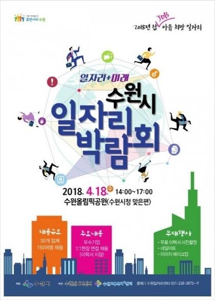 2018 일자리+미래 수원시 일자리박람회 포스터. (사진 = 수원시)