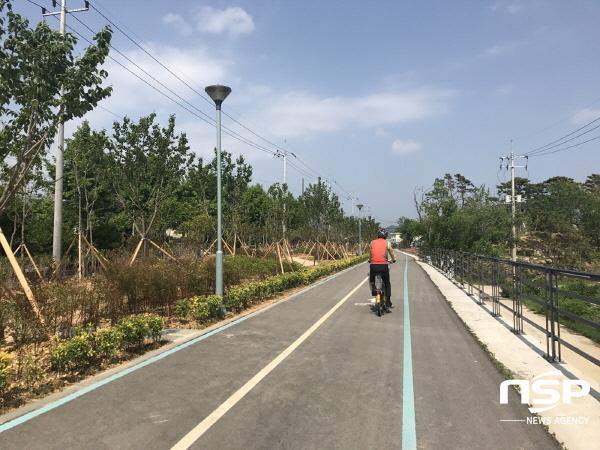 [포토]광양시, 광양읍 경전선 폐철도부지 경관숲 조성 완료