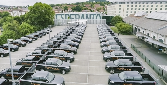 지난 6월 중순 독일 풀다(Fulda)에서 열린 렉스턴 스포츠 독일 론칭 행사장 전경. (사진 = 쌍용차)