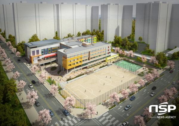 초곡초등학교 조감도 (사진 = 포항교육지원청)