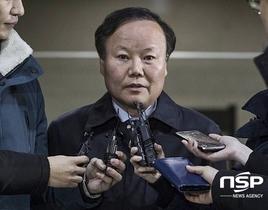 [포토][단독] 국정원 특활비 불법 여론조사 혐의 김재원 의원, 판결선고기일 연기