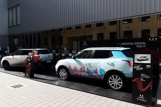 쌍용차가 티볼리 디자인 창작대회 프로젝트의 당선작 피닉스와 듀오톤을 밀라노 문화예술지구인 조나 토르토나(Zona Torona) 내 문화박물관 무덱(MUDEC)에 전시했다. (사진 = 쌍용차)