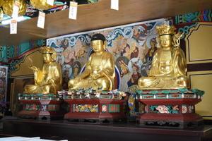 [NSP PHOTO]진도군 쌍계사 목조석가여래삼존좌상 보물 지정