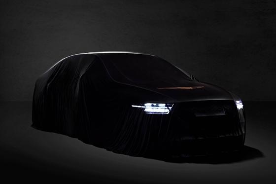 현대차의 제네시스 브랜드가 공개한 G90의 티저 이미지 (사진 = 제네시스)