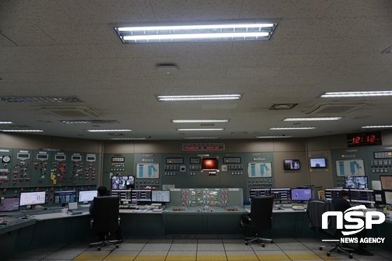 GS E&R 반월발전소의 모든 설비를 컴퓨터로 제어하고 감독하는 중앙제어실 모습. (사진 = 나수완 기자)