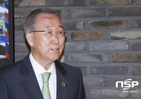 반기문 국가기후환경회의 위원장. (사진 = 이복현 기자)
