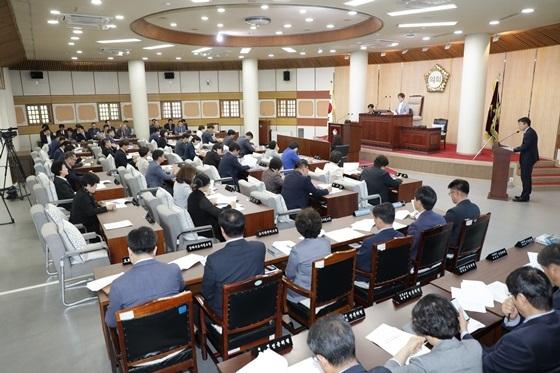 제231회 임시회 제1차 본회의 모습 (사진 = 고양시의회)