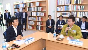 [포토]문성혁 해수부장관, 포항 '해양수산 사업현장' 방문 점검