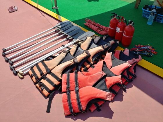 유선 안전 관련 장비들. (사진 = 용인시)