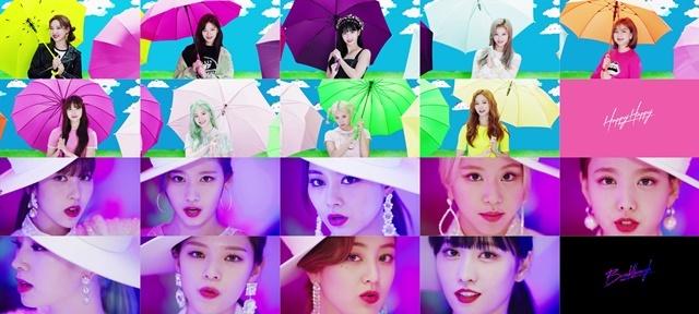 ▲트와이스 日 싱글 4집 해피해피(위)와 5집 브레이크스루(아래) 콘셉트 이미지 (사진 = JYP엔터테인먼트)