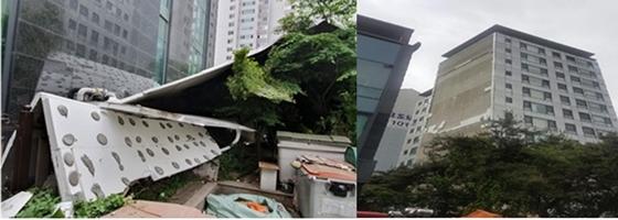 드라이비트가 탈락된 서울 잠원동 아파트 (사진 = 서울시)