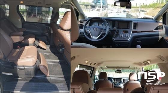 미니밴 토요타 시에나 4WD 내부 (사진 = 강은태 기자)