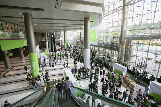 엔비디아 AI 컨퍼런스 2019에 마련된 전시부스. (사진 = 엔비디아)