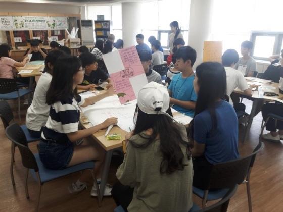 만안청소년수련관 ECO프로젝트 활동 모습. (사진 = 안양시청소년재단)