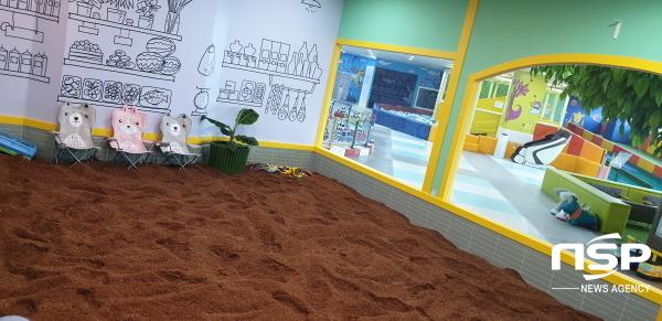 흙 놀이 체험 공간 (사진 = 헬로쁘띠 프리미엄 키즈파크 포항점)