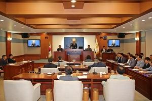 [NSP PHOTO]장수군의회, '일본 정부 경제보복 규탄 결의안' 채택...